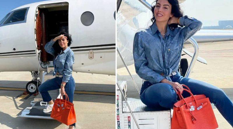 ¡El nuevo jet de Georgina le costaría a Ronaldo 70 millones de euros!