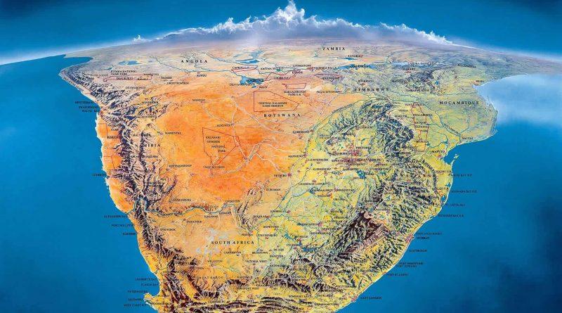 Mapa de África: inauguración de un monumento en el Cabo Occidental