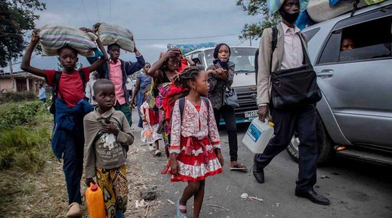 el calvario de las víctimas de la erupción del volcán Nyiragongo