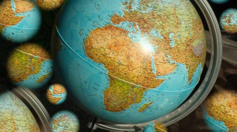 Globe terrestre représentant le continent africain